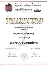certyfikat DDD