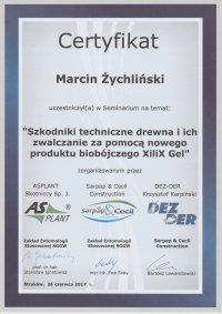 certyfikat zwalczanie szkodników technicznych drewna